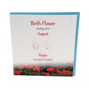 The silver studio collections birth flower bfe8 birth flower earrings poppy august mightylinksfo